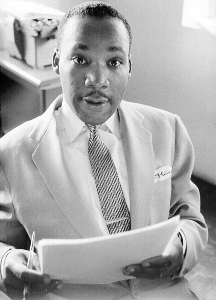 Martin Luther King, Jr. at home in May 1956 in Montgomery, Alabama.