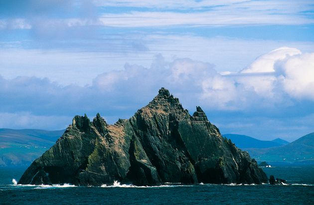 The small island of Skellig Michael, part of County Kerry,