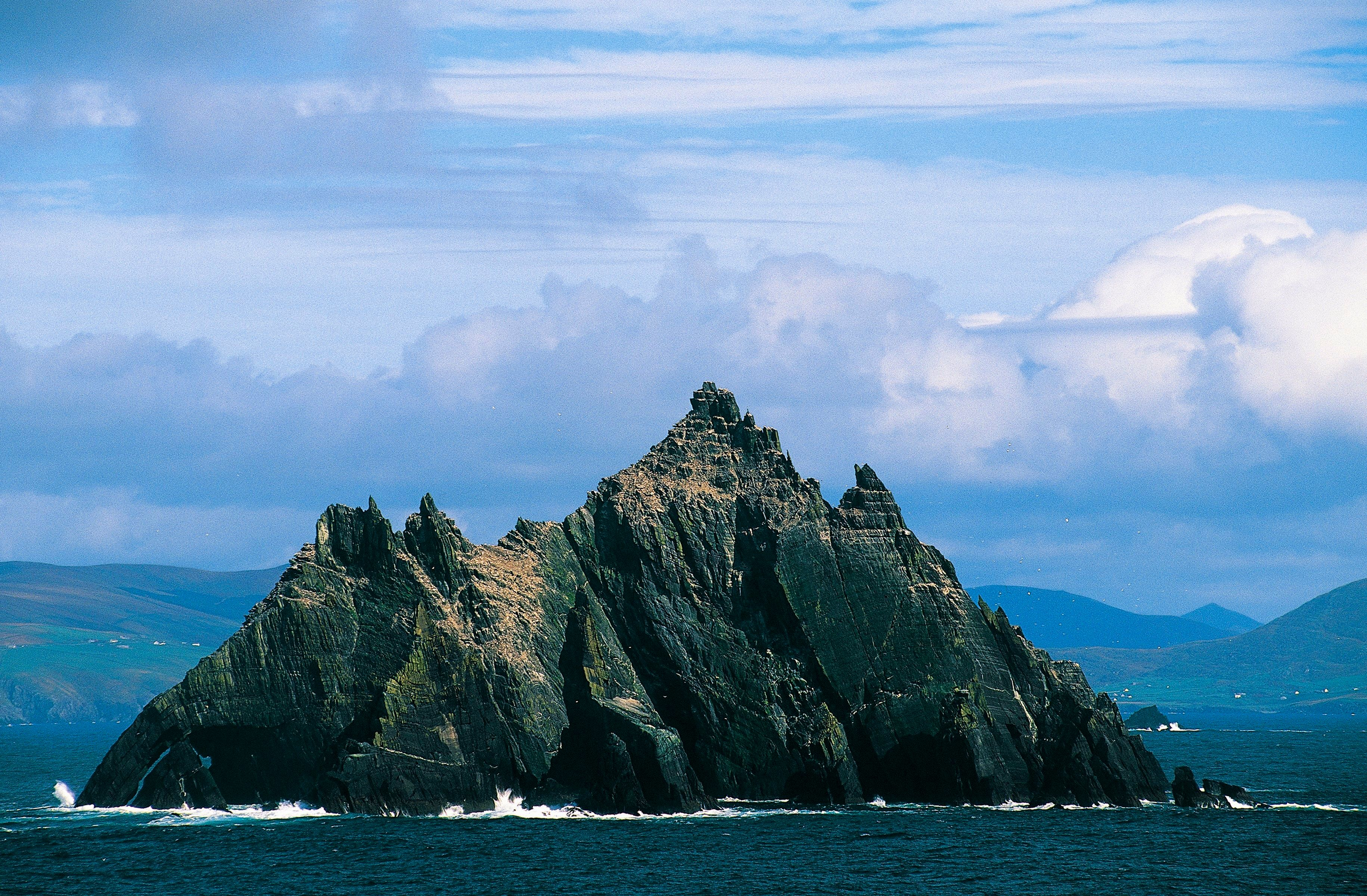 The small island of Skellig Michael, part of County Kerry, Ireland.
