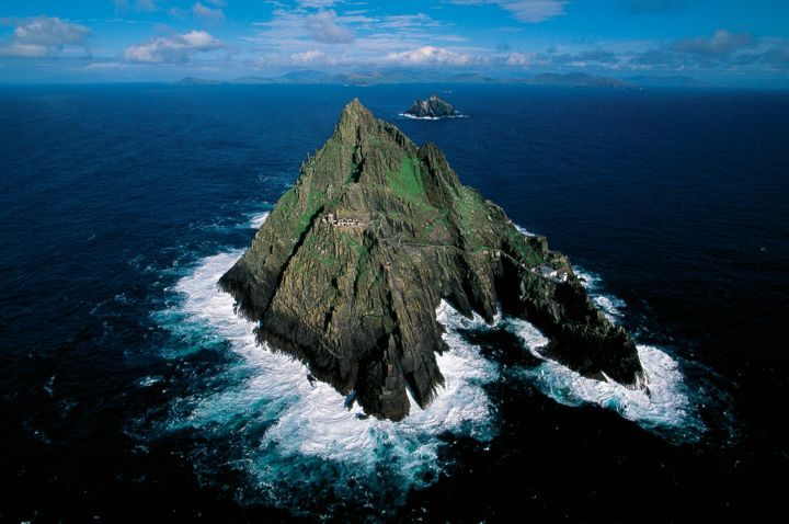 The Skellig Islands are part of County Kerry, Ireland.