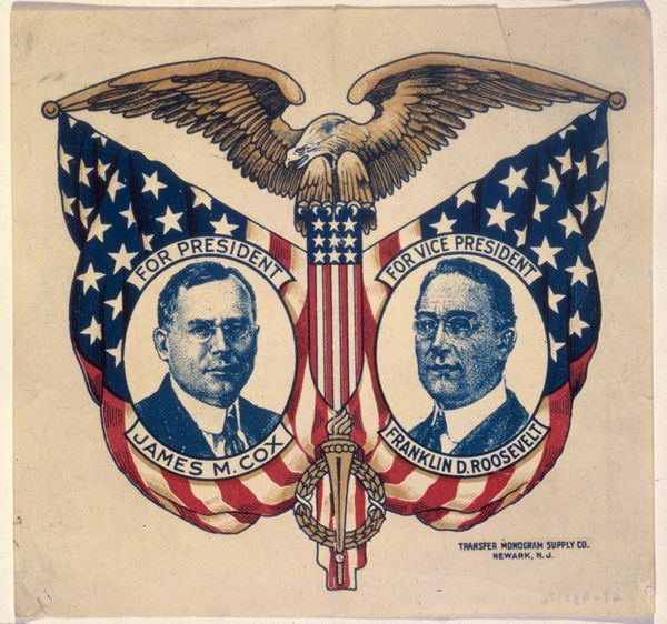 Campaign poster for James M. Cox and Franklin D. Roosevelt, circa 1920.