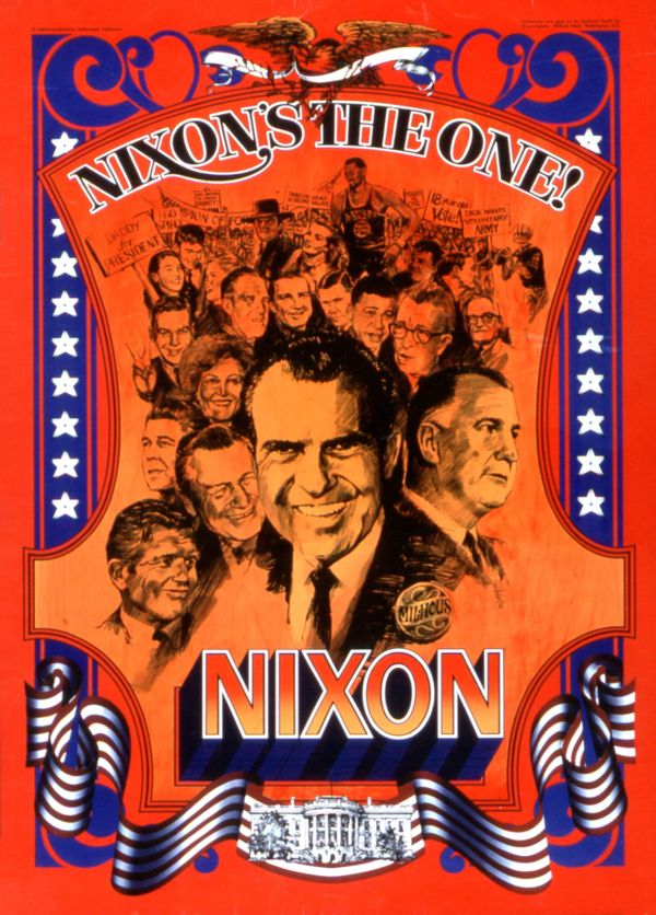 Campaignposter for Richard Nixon, circa 1968.