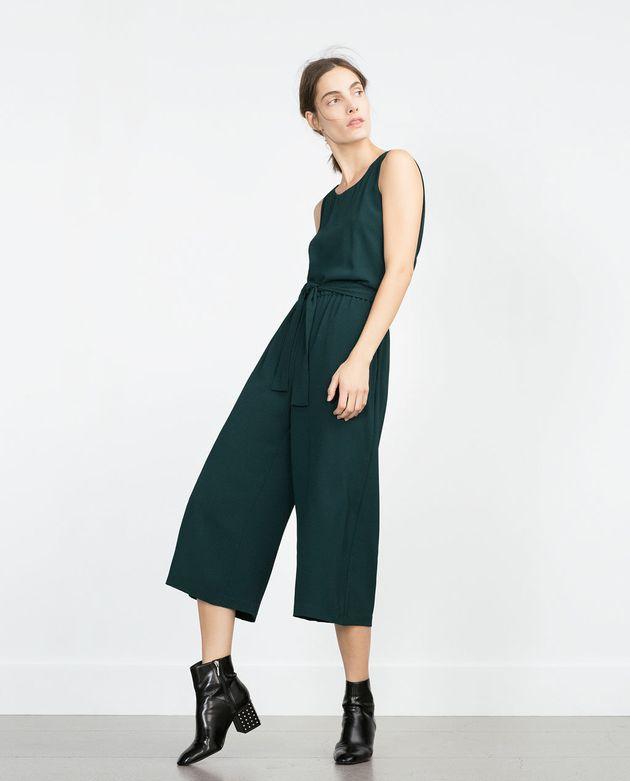 Zara Fancy Cropped Jumpsuit,