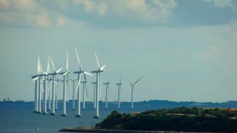 Wind Turbines, Copenhagen, Denmark, Europe. (Photo by: Education Images/UIG via Getty Images)