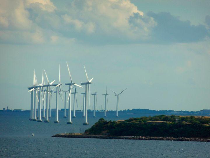 Wind turbines spin inCopenhagen. Denmark relies heavily on wind power.