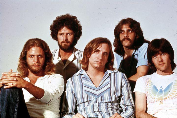 Don Felder, Don Henley, Joe Walsh, Glenn Frey, Randy Meisner.