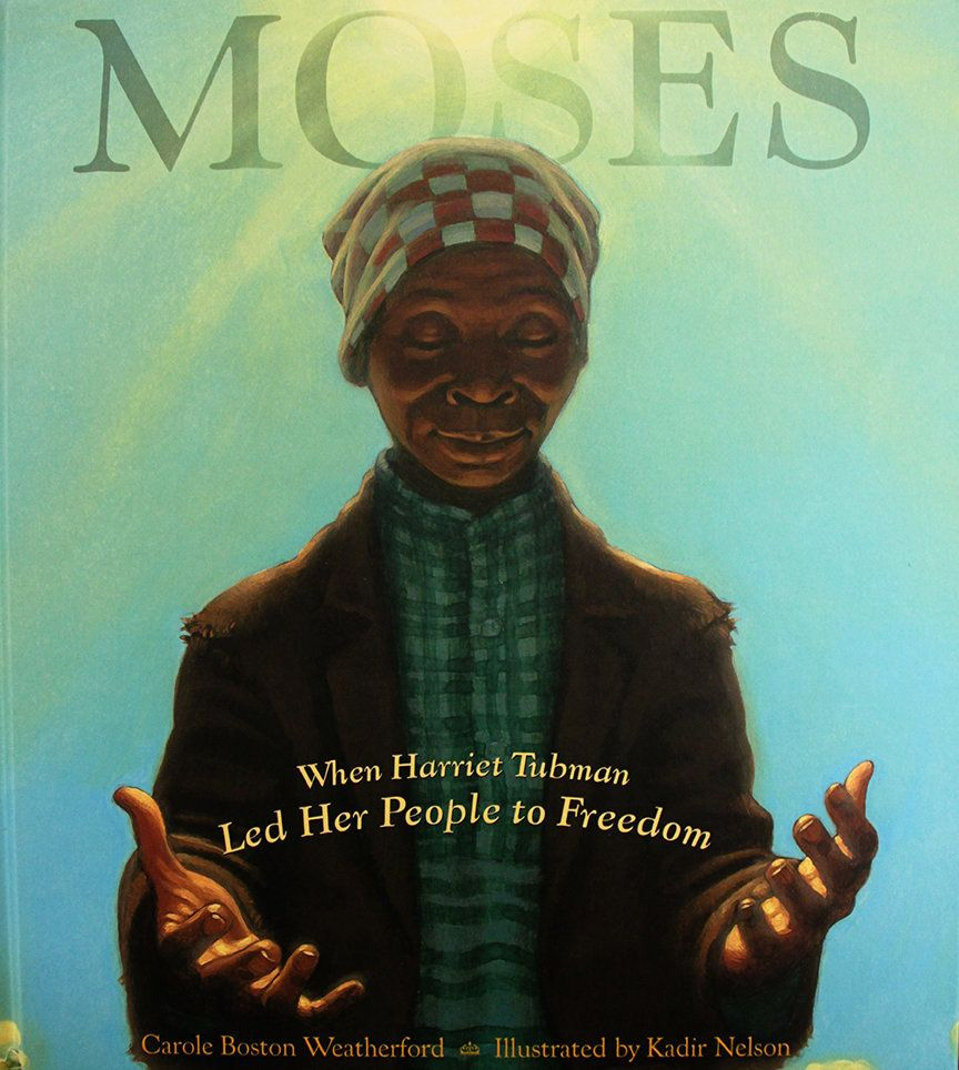 A reverentretelling of Harriet Tubman's brave work on the Underground Railroad, written by Carole Boston Weatherford wi