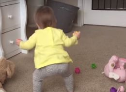 Lucky Mom Catches Her Baby Girl's First Steps On Camera