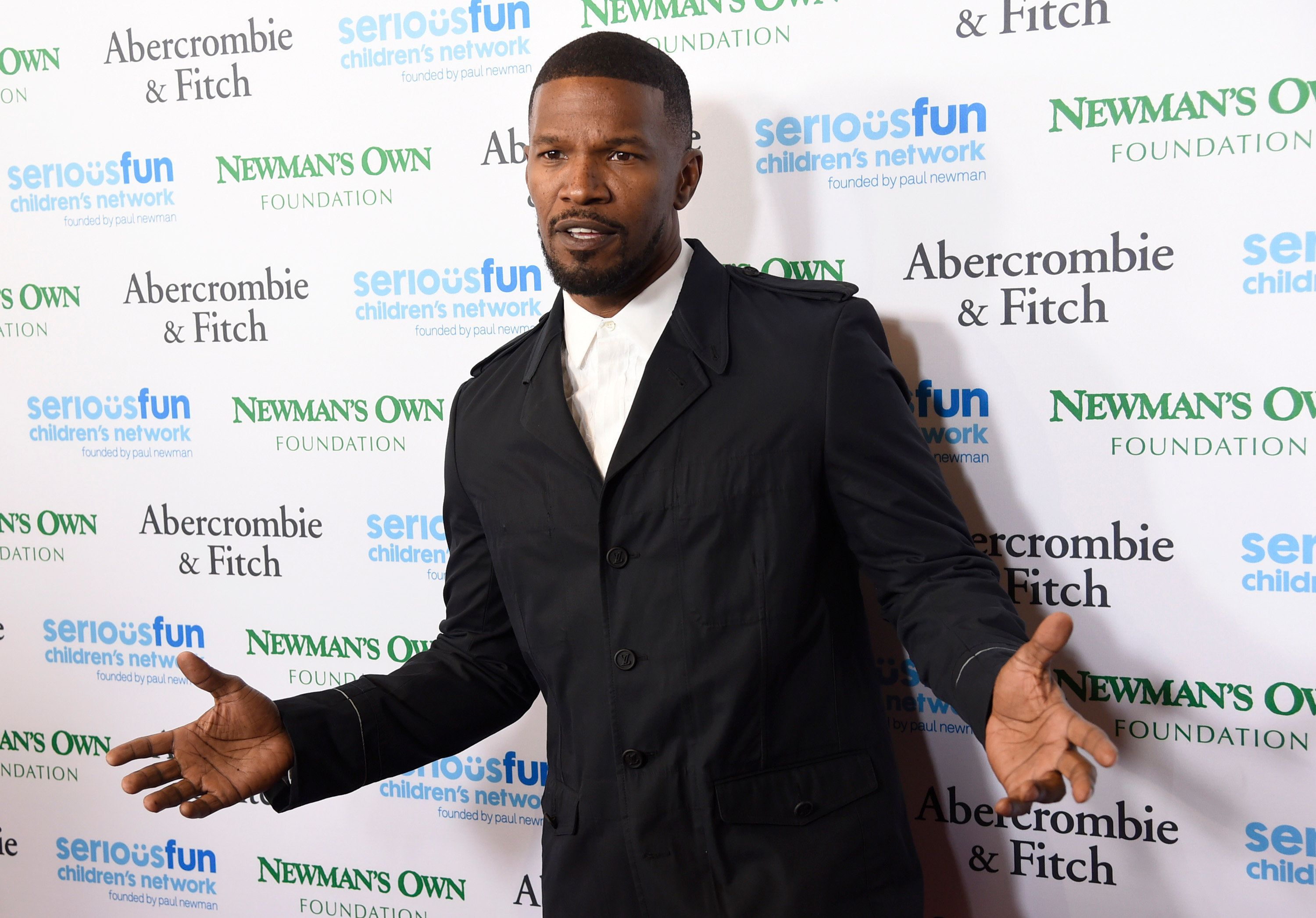 Jamie Foxx arrives at the SeriousFun Children's Network event at the Dolby Theatre on Thursday, May 14, 2015, in Los Angeles. (Photo by Chris Pizzello/Invision/AP)