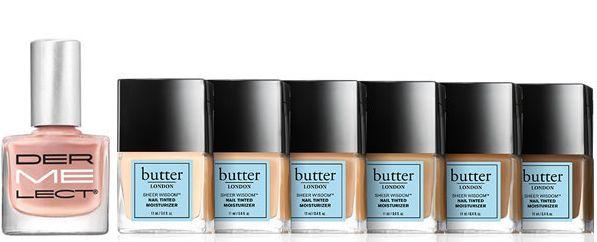 Nude nail polish creates the illusion of longer nail beds.