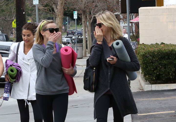 Reese Witherspoon and Naomi Watts on February 06, 2014 in Los Angeles, California.