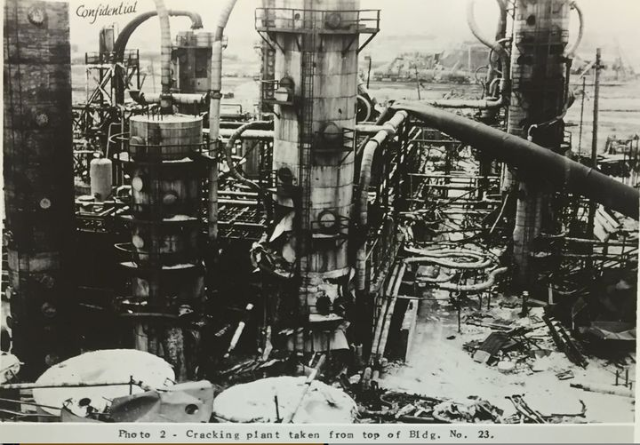 The EuroTank oil refinery site, partially constructed by Fred Koch's Winkler-Koch company, ispictured in a confidential