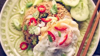 Nasi Goreng with Chicken And Vegetables