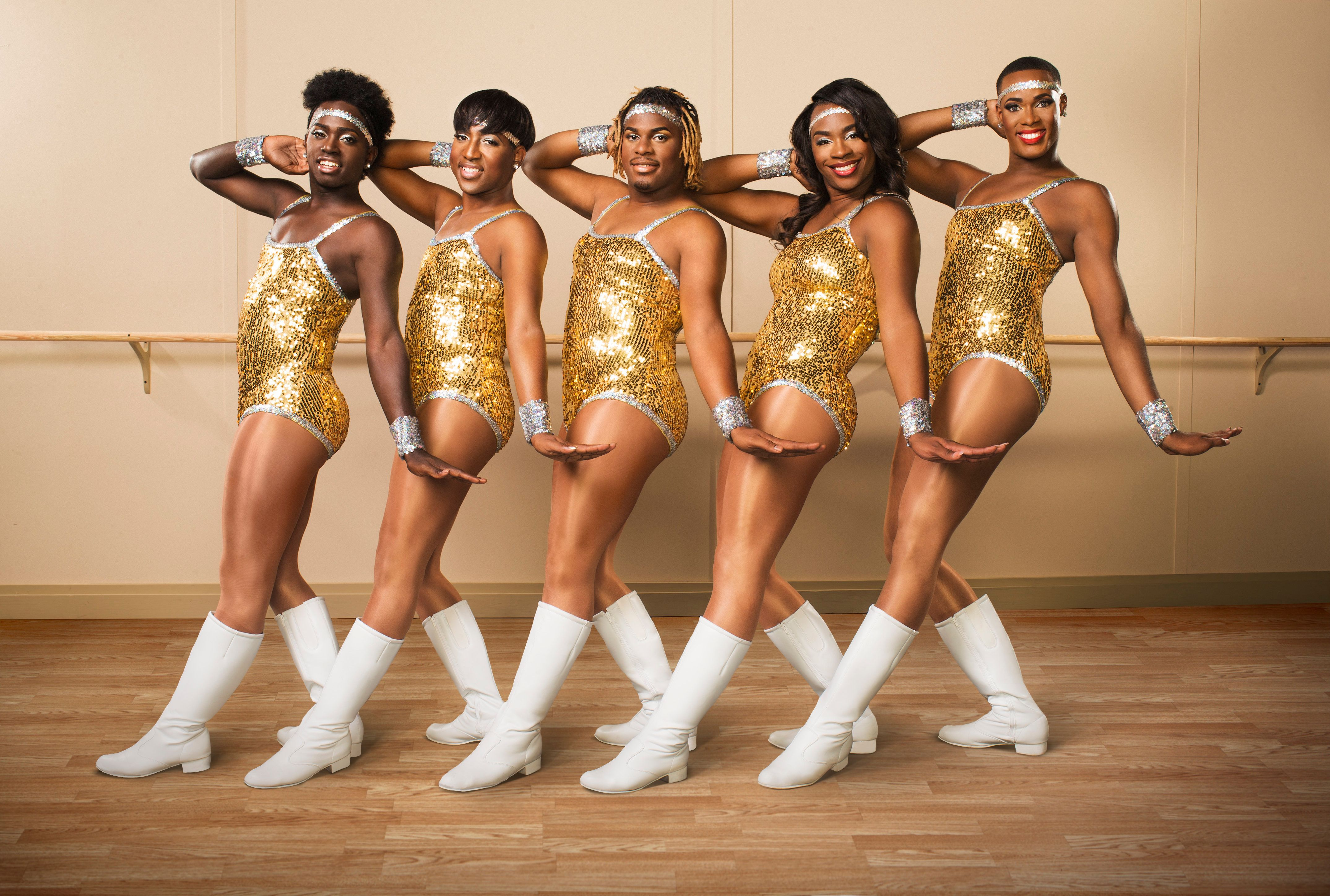 "THE PRANCING ELITES -- ""Season 2"" -- Pictured: (l-r) Kareem Davis, Jerel Maddox, Kentrell Collins, Tim Smith, Adrian Clemons -- (Photo by: Michael Wong/Oxygen)"