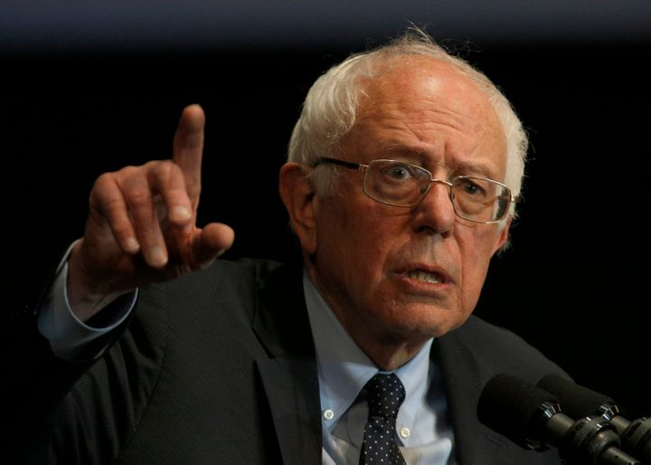 Democratic presidential candidate Bernie Sanders is leading the polls in New Hampshire.