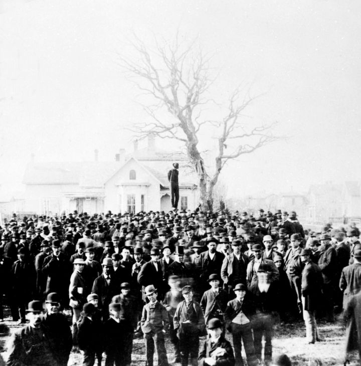 Almost 3,960 African-Americans were lynched from 1877 to 1950 in U.S. This photo is from 1882.