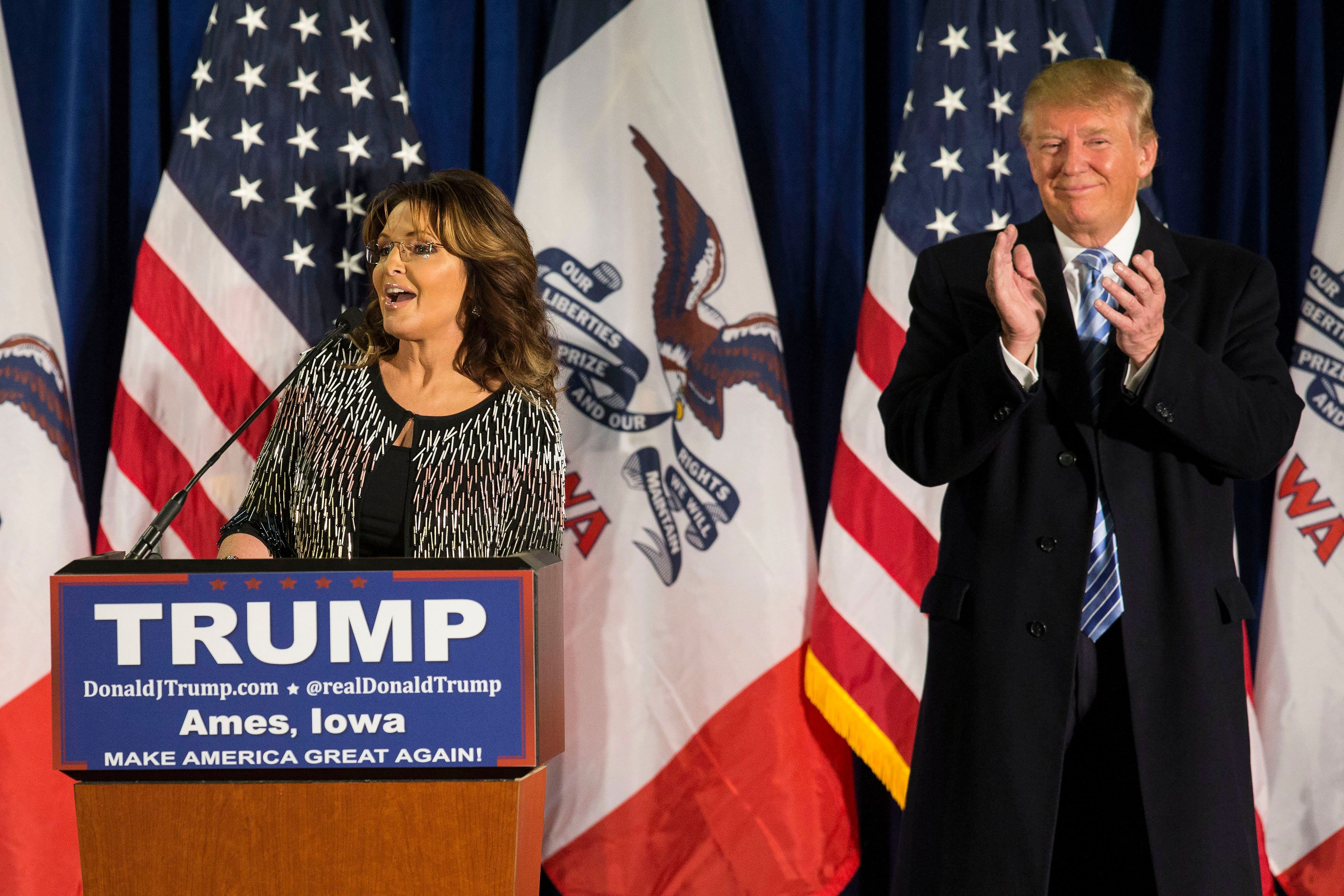 Sarah Palin endorsed GOP front-runner Donald Trump on Tuesday, and quickly reminded the nation that she really has a way