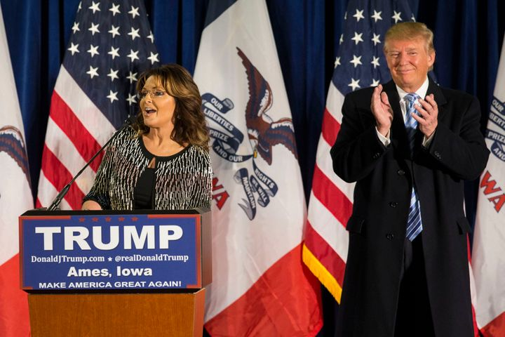 Sarah Palin endorsed GOP front-runner Donald Trump on Tuesday, and quickly reminded the nation that she reallyhas a way