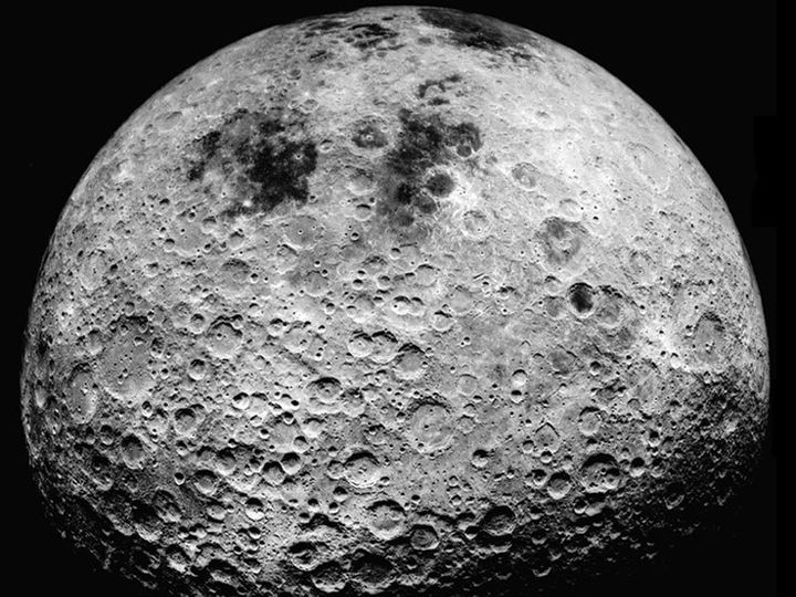 Far side of the moon, as seen from Apollo 16.