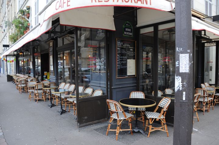 An empty terrace down the street from the Carillon bar and the Petit Cambodge restaurant, two of the sites targeted in t