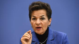 Executive Secretary of the United Nations Framework Convention on Climate Change (UNFCCC) Christiana Figueres addresses a news conference on the aggregation report of the national climate action plans ('Intended Nationally Determined Contributions') in Berlin on October 30, 2015.    AFP PHOTO / TOBIAS SCHWARZ        (Photo credit should read TOBIAS SCHWARZ/AFP/Getty Images)