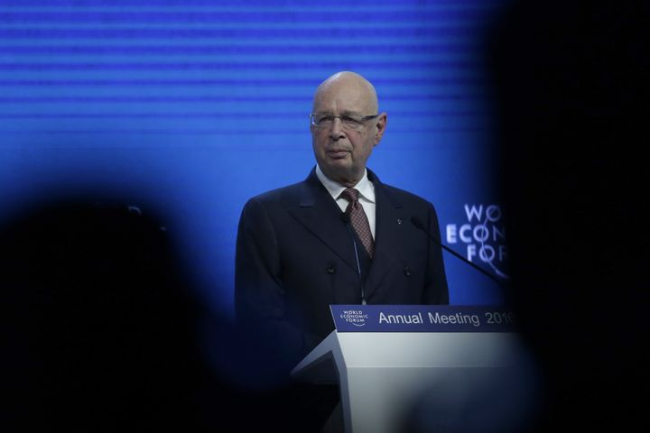 Klaus Schwab, chairman of the World Economic Forum, speaks during a plenary session ahead of the World Economic Forum in Davo