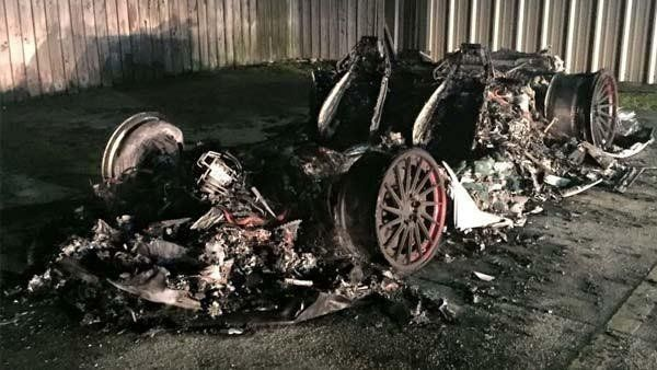 Someone allegedly torched Louisiana business owner David Mahler's 2014 Lamborghini Huracan.