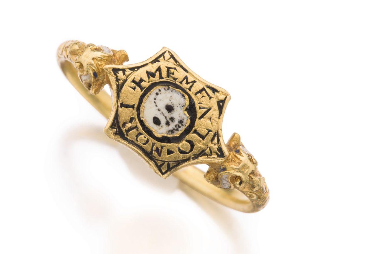 Gold And Enamel Mourning Ring, Circa 1580