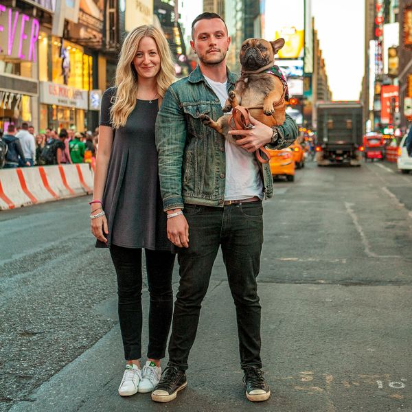 "<strong> Emily, Allan + Frankie&nbsp;(Times Square, Manhattan)&nbsp;<br></strong>""We're best buds.""<strong><br></strong>"
