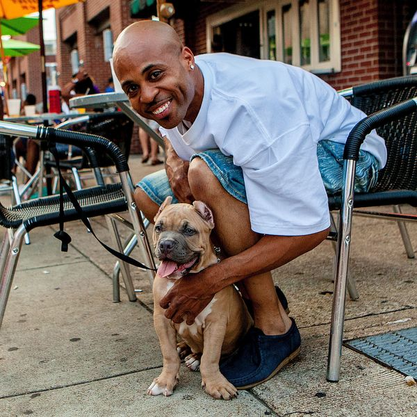 "<strong>Damien + Bo&nbsp;(Memphis, TN)&nbsp;</strong><br>""My parents always had dogs, but he's the first dog that I've had pe"