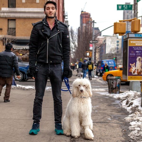 "<strong>Muhammad + Ghost&nbsp;(Midtown, Manhattan)</strong><br>""Ghost is 9 months old. I've had him since he was four months"