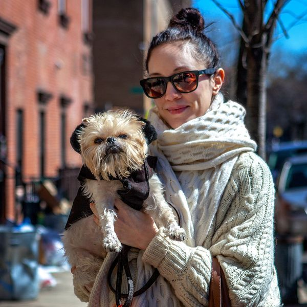 "<strong>Zoe + Charlie (Williamsburg, Brooklyn)&nbsp;</strong><br>""His dad does photography, so he gets his photo taken all of"