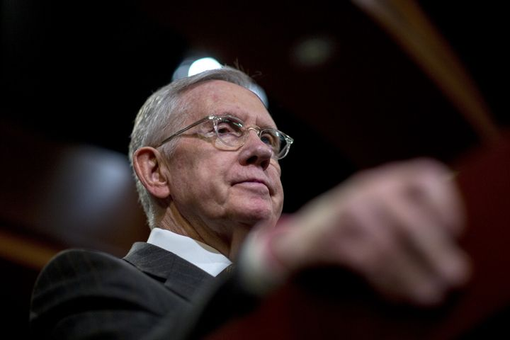 Senate Minority Leader Harry Reid (D-Nev.) says Republicans should vote on whether they agree with presidential front-runner
