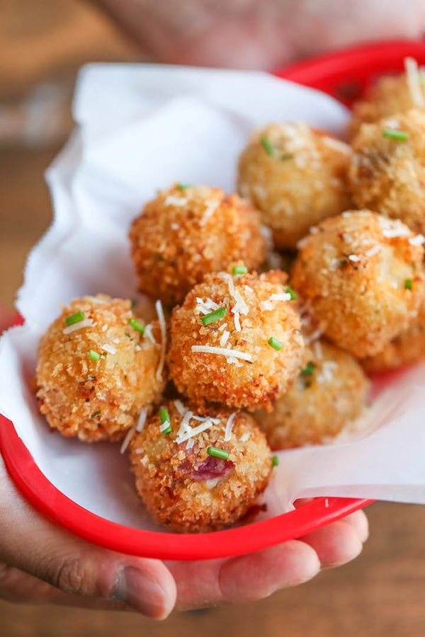 """<strong>Get the <a href=""""http://damndelicious.net/2015/11/14/loaded-mashed-potato-balls/"""" target=""""_blank"""">Loaded Mashed Potat"""