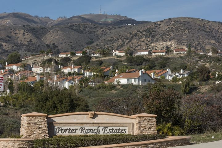 Homes in the Porter Ranch Estates community near the Aliso Canyon facility. Residents were evacuated because of the gas leak