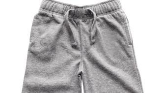 Gray sweatpants isolated