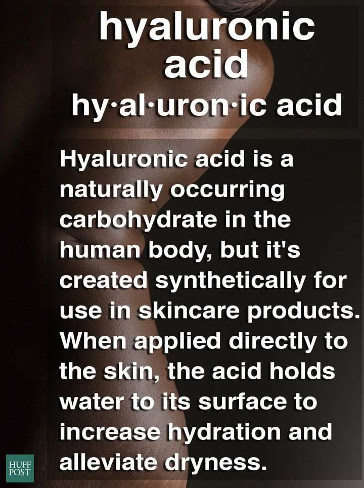 Hyaluronic acid has the ability to hold up to 1,000 times its weight in water.
