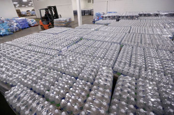 Residents of Flint, Michigan, are relying on bottled water as the city's drinking water remains contaminated with lead. HuffP