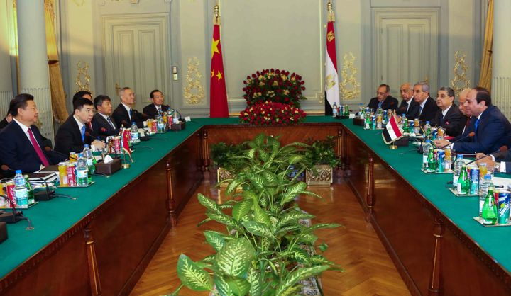 Egyptian President el-Sisi and Chinese President Xi meet in Cairo. Xi also outlined multi-billion-dollar investment plans for