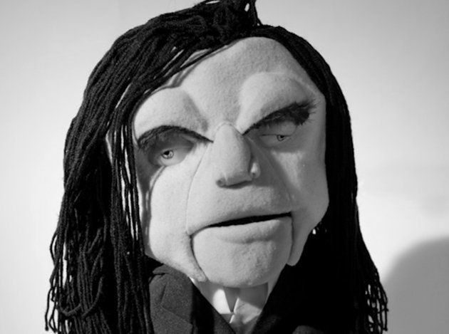 "Tommy Wiseau puppet created by <a href=""http://www.katherinevoorhies.com/"" target=""_blank"">Katherine Voorhies</a>."