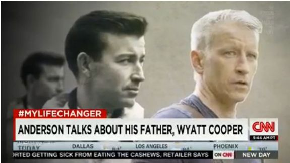 Wyatt Cooper (left) died when his son Anderson was only 10 years old.