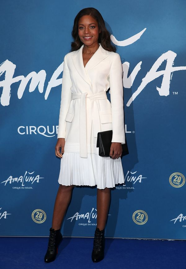 <strong>Naomie Harris in Dior: </strong>We are all about thisoff-white wool crepe coat dress. It's the idealway t