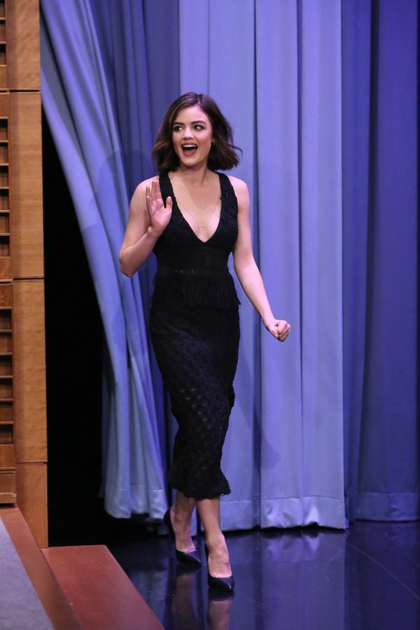 <strong>Lucy Hale in Jonathan Simkhai:</strong> What makes this dress so great is the texture in the skirt and the fringe det
