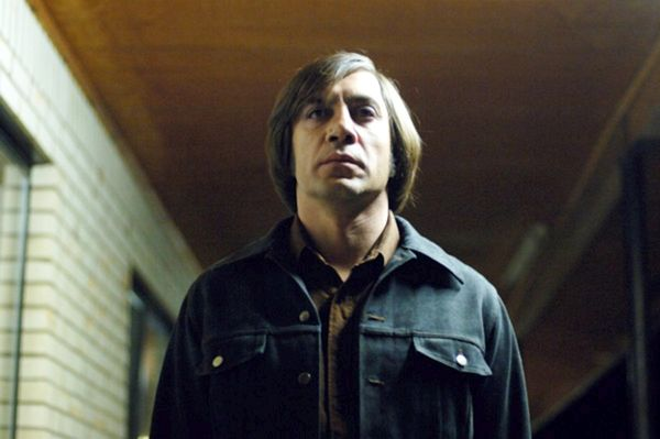 """Javier Bardem was a legitimately scary manin """"No Country For Old Men."""" 75 percent was acting and the rest was his hair."""
