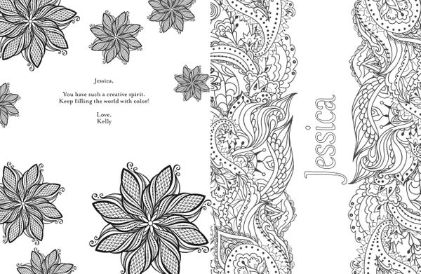 custom coloring pages names