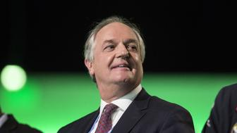 Paul Polman, chief executive officer of Unilever Plc, reacts during the action day at the United Nations COP21 climate summit, at Le Bourget, in Paris, France, on Saturday, Dec. 5, 2015. Frances energy and environment minister Segolene Royal yesterday said the fate of the United Nations global warming talks hinges on the willingness of richer countries to pay poorer ones more for climate-related projects. Photographer: Christophe Morin/Bloomberg via Getty Images