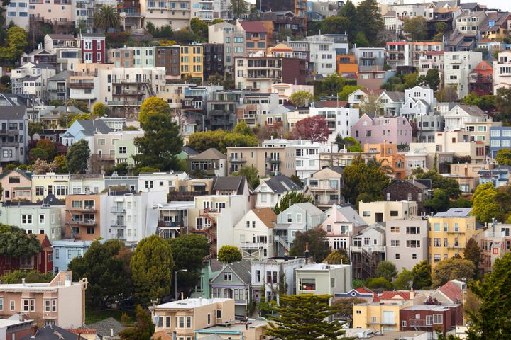 File photo of San Francisco. Sorry, you probably couldn't afford to live in any of the buildings pictured.