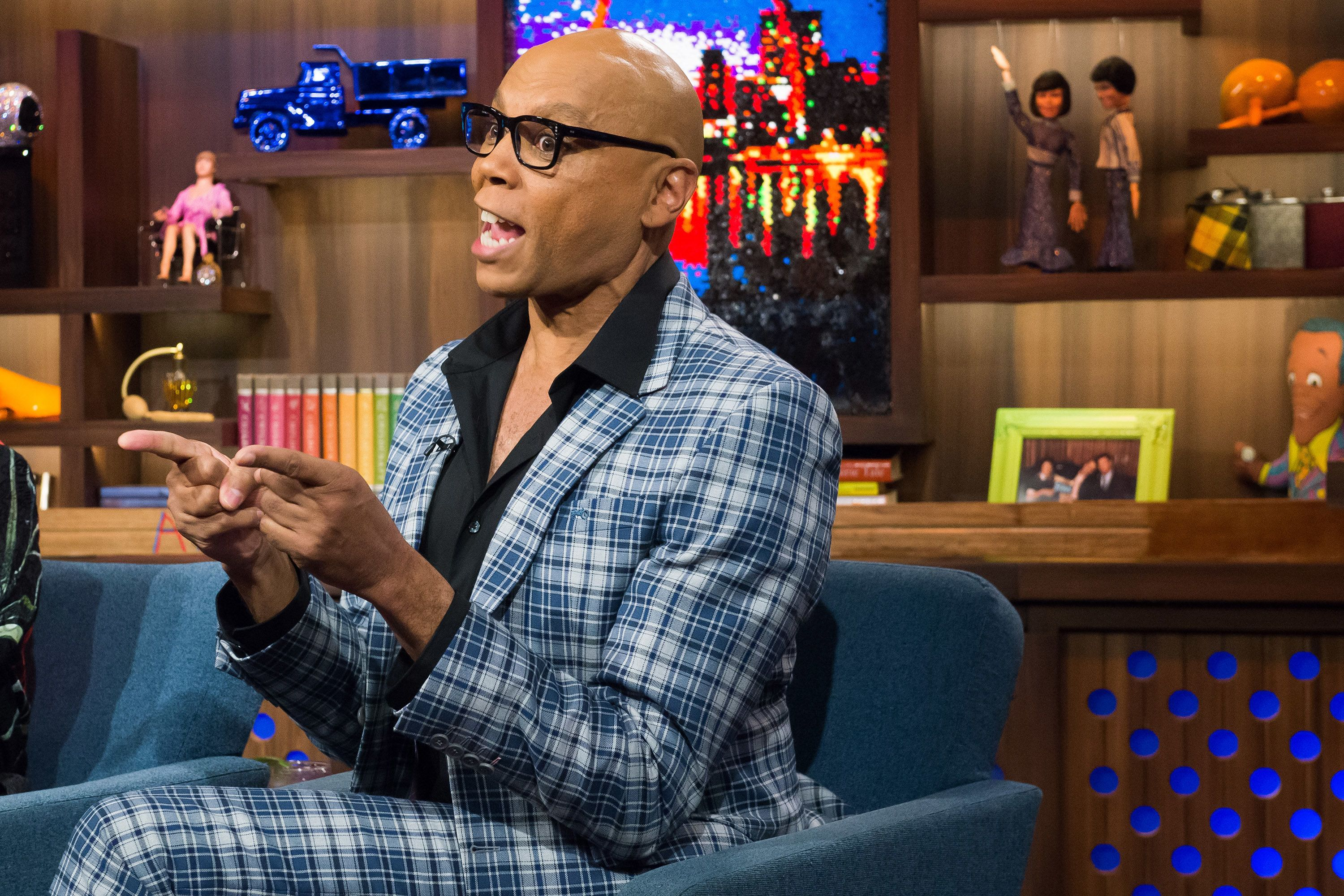 WATCH WHAT HAPPENS LIVE -- Pictured: RuPaul -- (Photo by: Charles Sykes/Bravo/NBCU Photo Bank via Getty Images)