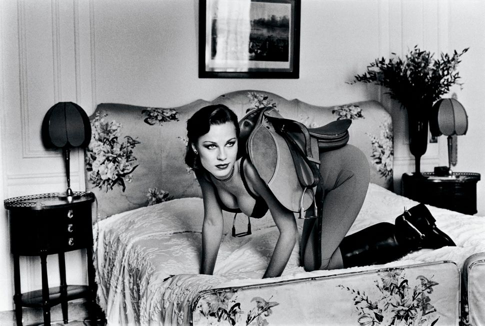 "Helmut Newton, Saddle I, Paris 1976 from the series ""Sleepless nights"""