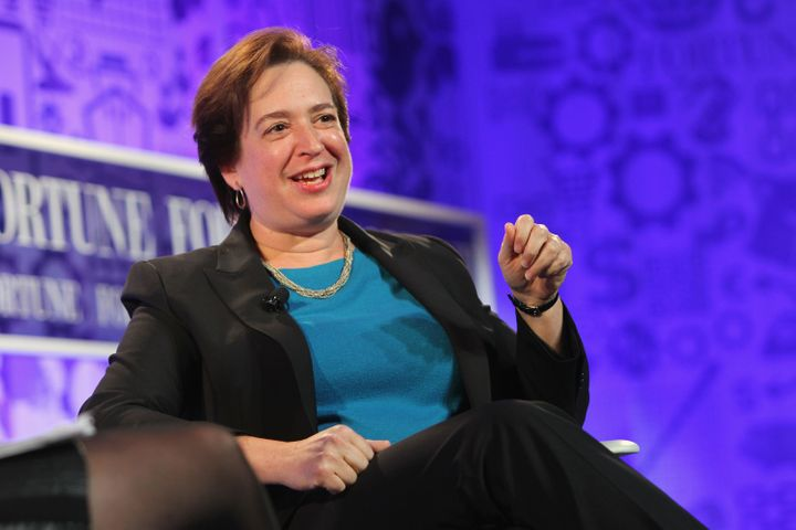 "Justice Elena Kagan seemed skeptical that the First Amendment protects those with well-defined political views, but not ""ever"